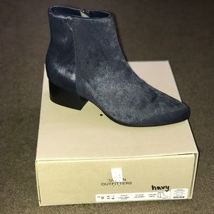 Navy ankle bootie